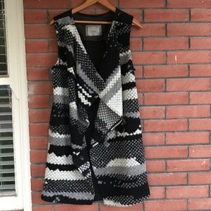 🌵 Anthropologie Guest Editor wool long vest